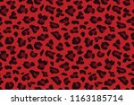 red leopard seamless pattern.... | Shutterstock .eps vector #1163185714