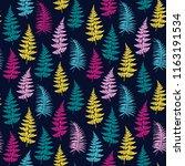 fern frond herbs  tropical... | Shutterstock .eps vector #1163191534