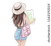 summer tourist illustration.... | Shutterstock .eps vector #1163192014