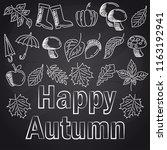 autumn season with chalk font... | Shutterstock .eps vector #1163192941