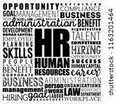 hr   human resources word cloud ... | Shutterstock .eps vector #1163201464