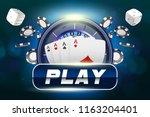 casino background roulette... | Shutterstock .eps vector #1163204401
