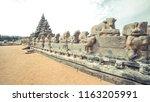 the shore temple in chennai...   Shutterstock . vector #1163205991
