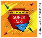 super sale banner. designs for... | Shutterstock .eps vector #1163208154