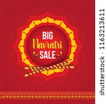 navratri festival big sale... | Shutterstock .eps vector #1163213611