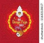 durga puja festival big sale... | Shutterstock .eps vector #1163213617