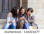 Group Of Women Sending Message...