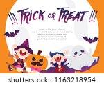 happy halloween character... | Shutterstock .eps vector #1163218954