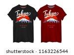 tokyo typography print on t... | Shutterstock .eps vector #1163226544