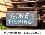 Sign Saying Gone Fishing