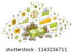 cash money dollar stacks and... | Shutterstock .eps vector #1163236711