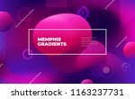 memphis abstract color... | Shutterstock .eps vector #1163237731
