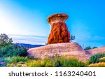 red rock canyon desert... | Shutterstock . vector #1163240401