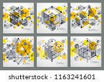 vector abstract yellow... | Shutterstock .eps vector #1163241601