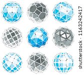 3d vector digital wireframe... | Shutterstock .eps vector #1163242417