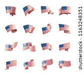 usa flag  vector illustration... | Shutterstock .eps vector #1163248351