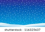 winter landscape with falling... | Shutterstock .eps vector #116325637
