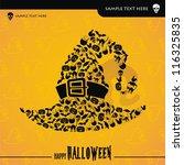 halloween vector card or... | Shutterstock .eps vector #116325835
