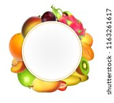 fruits banner. vector... | Shutterstock .eps vector #1163261617