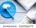 preparation of mixture baby... | Shutterstock . vector #1163266174