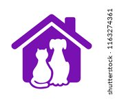 pet house icon flat... | Shutterstock .eps vector #1163274361