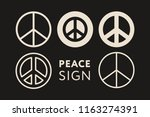 peace pacific hippie circle... | Shutterstock .eps vector #1163274391