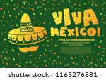 mexican vector banner layout... | Shutterstock .eps vector #1163276881