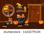 cellar house  illustration... | Shutterstock .eps vector #1163279134