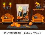cellar house  illustration... | Shutterstock .eps vector #1163279137