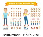front  side  back  3 4 view... | Shutterstock .eps vector #1163279251