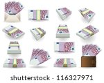 500 euro finance banknotes full ...