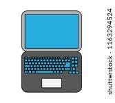 laptop technology isolated | Shutterstock .eps vector #1163294524