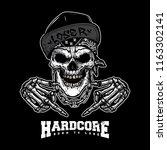 skull gangsta illustration | Shutterstock .eps vector #1163302141