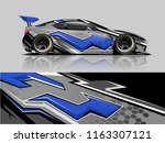 car graphic vector. abstract... | Shutterstock .eps vector #1163307121