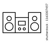 stereo thin line icon. stereo...