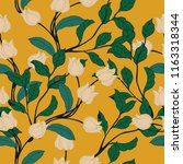 elegance pattern with flowers... | Shutterstock .eps vector #1163318344