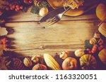 frame thanksgiving.... | Shutterstock . vector #1163320051