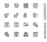 web hostig. set icon eps 10... | Shutterstock .eps vector #1163323147