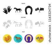 race  track  horse  animal ... | Shutterstock .eps vector #1163324734
