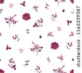 seamless pattern with purple... | Shutterstock .eps vector #1163339587