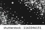 snowflake border for christmas...   Shutterstock .eps vector #1163346151