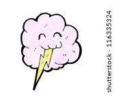 cute thunder cloud cartoon   Shutterstock .eps vector #116335324