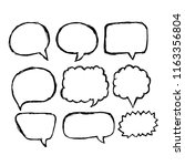 speech bubble icon hand drawn | Shutterstock .eps vector #1163356804