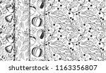collection of autumn patterns... | Shutterstock .eps vector #1163356807