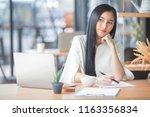 protrait of beautiful...   Shutterstock . vector #1163356834