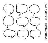 speech bubble icon hand drawn | Shutterstock .eps vector #1163357491