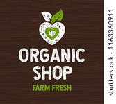 organic shop logo  farm fresh... | Shutterstock .eps vector #1163360911