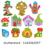 fantasy house vector cartoon... | Shutterstock .eps vector #1163362057