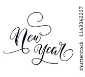 new year modern calligraphy | Shutterstock .eps vector #1163362237