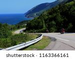 winding roads on cabot trail ... | Shutterstock . vector #1163366161